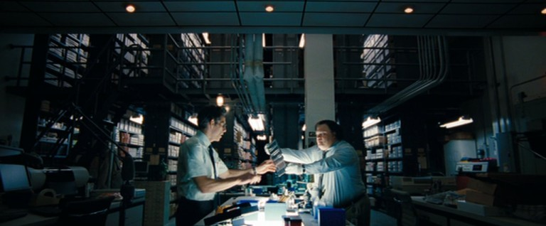 """Walter Mitty in the library of the editorial of the """"Life"""" magazine"""